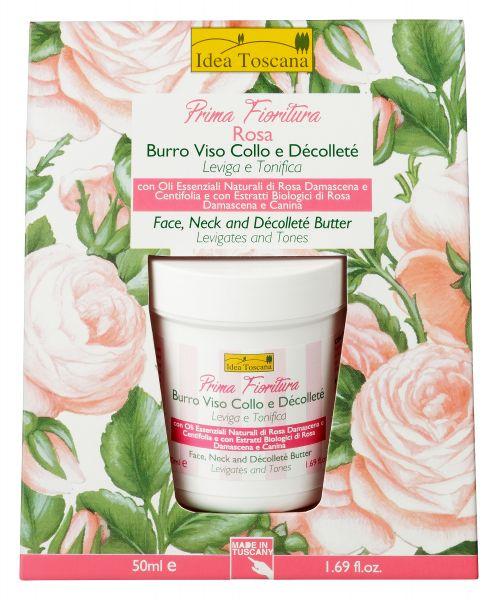 Gesicht-, Hals- und Dekolleté-Butter Rose Prima Fioritura