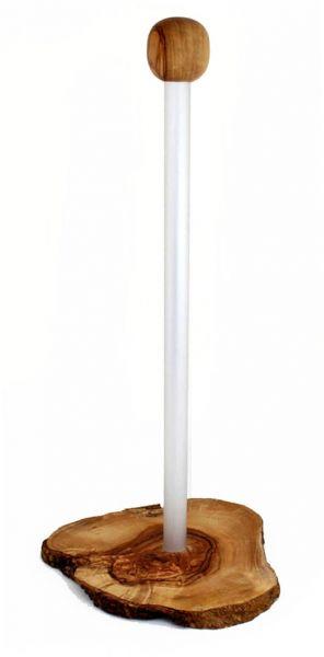 Toilettenrollen-Ständer »Riccardo« aus Olivenholz & Aluminium