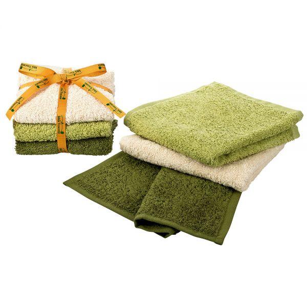 3 Waschlappen Baumwolle Prima Spremitura
